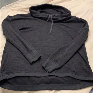 Athleta heathered grey cowl neck sweatshirt.  XL